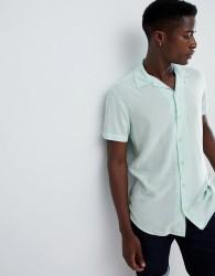 Produkt Revere Collar Short Sleeve Summer Shirt - Green