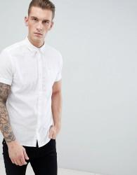 Produkt Short Sleeve Linen Mix Shirt - White