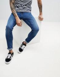 Produkt Skinny Fit Jeans In Mid Blue Denim - Blue