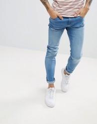 Produkt Skinny Fit Jeans In Washed Blue Denim - Blue