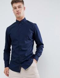 Produkt Smart Shirt In Slim Fit Stretch - Navy