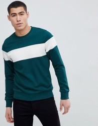 Produkt Sweatshirt With Retro Stripe - Green