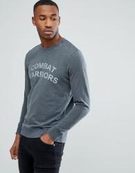Produkt Sweatshirt With Vintage Graphic - Black