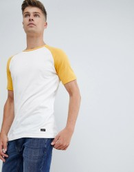 Produkt T-Shirt With Colour Raglan Sleeve - White