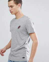 Produkt T-Shirt With Ice Cream Embroidery - Grey