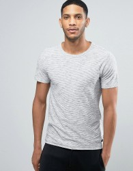 Produkt T-Shirt with Melange Detail - White