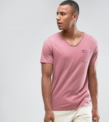 Produkt T-Shirt With Pocket Tape Detail - Red