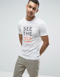 Produkt T-Shirt With Sea Print - White