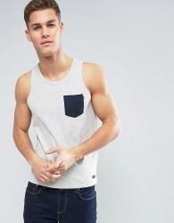 Produkt Vest With Contrast Pocket - White