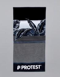 Protest Towel in Black - Black