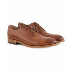 PS by Paul Smith Paul Smith Ernest Derby Toe Cap Tan Calf