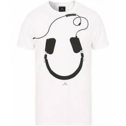 PS by Paul Smith Paul Smith Headphones Crew Neck Tee White