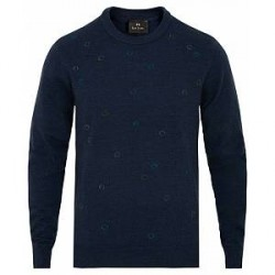 PS by Paul Smith Paul Smith Knitted Circles Crew Neck Navy
