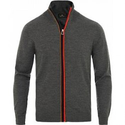 PS by Paul Smith Paul Smith Knitted Stripe Full Zip Grey