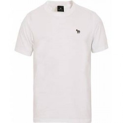 PS by Paul Smith Regular Fit Zebra Crew Neck Tee White