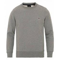 PS by Paul Smith Zebra Crew Neck Sweatshirt Grey Melange