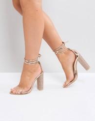 Public Desire Fatale Embellished Heeled Sandals - Gold