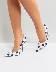 Public Desire Tease Polka Dot Court Shoes - Multi