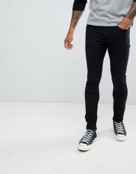 Pull&Bear super skinny jeans in black - Black
