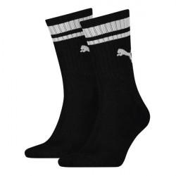 Puma 2-pak Crew Heritage Stripe Socks - Black * Kampagne *