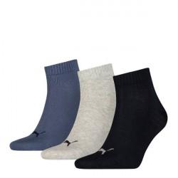 Puma 3-pak Quarter Socks - Navy/Grey * Kampagne *