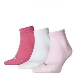 Puma 3-pak Quarter Socks - Pink/White * Kampagne *