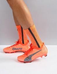 Puma evoPOWER Vigor 3D 1 Firm Ground Football Boots In Orange 10399903 - Orange