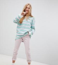 Puma Exclusive Oversized Organic Cotton Stripe Long Sleeve T-Shirt - Multi