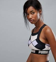 Puma Exclusive To ASOS Geometric Print Bra Top - Multi