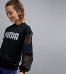 Puma Exclusive To Asos Mesh Sleeve Sweatshirt - Black