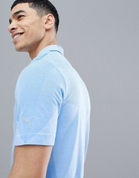 Puma Golf Evoknit Seamless Polo T-Shirt In Blue 57454701 - Blue