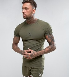 Puma Muscle Fit T-Shirt In Green Exclusive to ASOS - Green