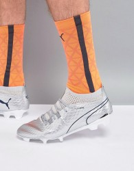 Puma One Football Boots Firm Ground In Chrome 10398601 - Silver