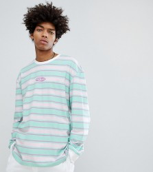 Puma Organic Cotton Retro Stripe Long Sleeve T-Shirt In Pink Exclusive To ASOS - Pink