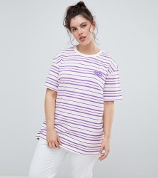 Puma Plus Exclusive Organic Cotton 2 Tones Stripe T-Shirt - Purple