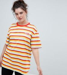 Puma Plus Exclusive Organic Cotton Rainbow Stripes T-Shirt - Red