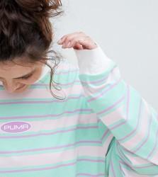 Puma Plus Exclusive Organic Cotton Stripe Long Sleeve T-Shirt - Multi