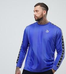 Puma Tape Long Sleeve T-Shirt - Blue
