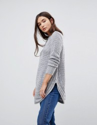 QED London Speckled Knit Jumper - Grey