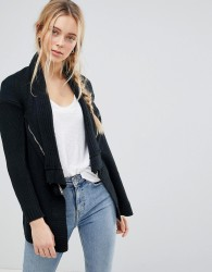 QED London Waterfall Knitted Jacket - Black