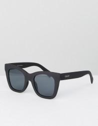 Quay Australia After Hours Cat Eye Sunglasses In Black - Black
