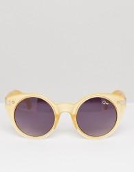 Quay Australia Aimshi Cat Eye Sunglasses - Gold