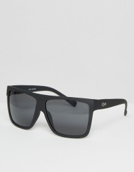 Quay Australia Barnun Oversized Smoke Lens Sunglasses - Black