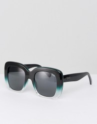 Quay Australia Day After Day Oversized Square Sunglasses In Black - Black