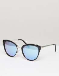 Quay Australia Every Little Thing Cat Eye Sunglasses In Black/Lilac - Black
