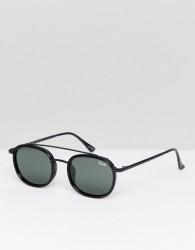 Quay Australia Got It Covered Round Sunglasses In Black - Black