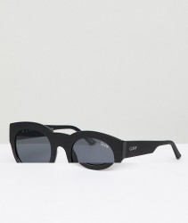 Quay Australia If Only Round Sunglasses In Black - Black