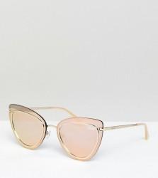 Quay Australia Primrose Cat Eye Sunglasses In Rose Gold Exclusive To ASOS - Gold