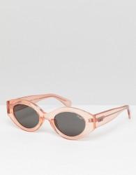 Quay Australia See Me Smile oval sunglasses - Pink