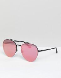 Quay Australia Somerset Round Sunglasses In Pink - Pink